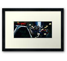 """A dog chasing cars"" Framed Print"