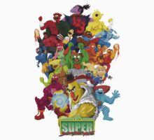 Super Sesame Street Fighter One Piece - Short Sleeve