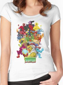 Super Sesame Street Fighter Women's Fitted Scoop T-Shirt