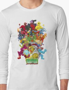 Super Sesame Street Fighter Long Sleeve T-Shirt