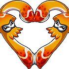 Squid Love - Pure Orange by LuAnne Boudier