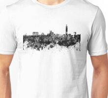 Taipei skyline in black watercolor Unisex T-Shirt