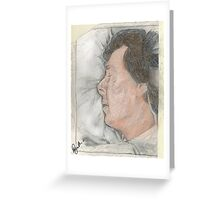 """Goodnight Mr Sherlock Holmes"" Greeting Card"