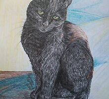 Black Kitten by artistichamster