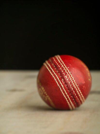 Red Cricket Ball by Edward Fielding