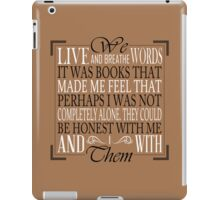 We Live and Breathe Words (Brown) iPad Case/Skin