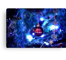 Red Bauble for Christmas Canvas Print