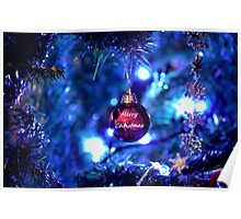 Red Bauble for Christmas Poster