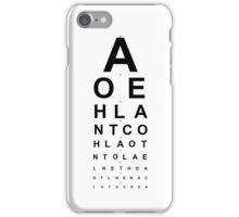 Snellen Chart iPhone Case/Skin