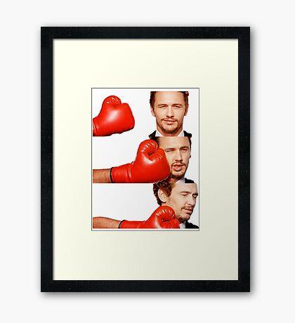James Franco gets the humor knocked out of him Framed Print
