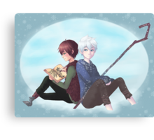Jack Frost and Hiccup- Drawing with good company Canvas Print