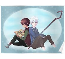 Jack Frost and Hiccup- Drawing with good company Poster