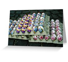 Painted Easter Eggs Greeting Card