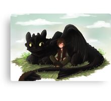 Toothless and Hiccup- HTTYD Canvas Print