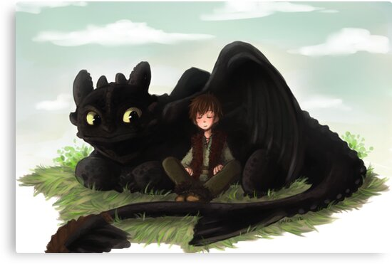 Toothless and Hiccup- HTTYD by AlexDasMaster