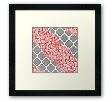 hydrangea and gray clover Framed Print