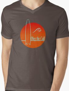 Obey The Call : Surf Mens V-Neck T-Shirt