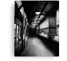 Small Town Station Canvas Print