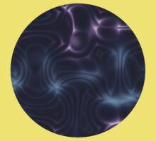 Purple Waves One Piece - Short Sleeve