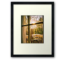 My Balcony In The Trees Framed Print
