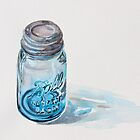 Ball Perfect Mason Jar Watercolor by Heather McCaw Kerley