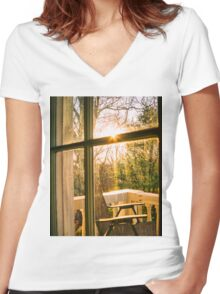 My Balcony In The Trees Women's Fitted V-Neck T-Shirt