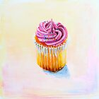 Cupcake with Pink Frosting by Heather McCaw Kerley