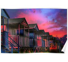 Tankerton Beach Huts Poster