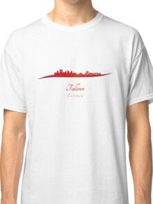 Tallinn skyline in red Classic T-Shirt