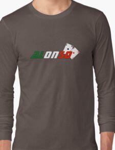 Fernando Alonso (Italian colours) Long Sleeve T-Shirt