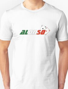 Fernando Alonso (Italian colours) Unisex T-Shirt