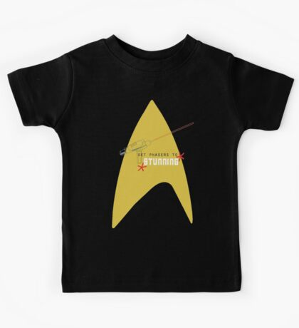 Set phasers to stunning. Kids Tee