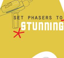 Set phasers to stunning. Sticker