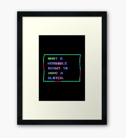 Horrible Glitchy Night Framed Print