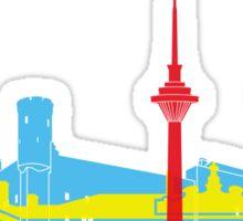 Tallinn skyline pop Sticker