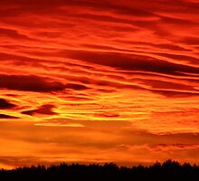 Flame Coloured Sunset Sky by taiche