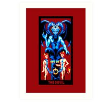 Tarot Devil Red Art Print