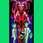 Tarot Devil Green by vgjunk