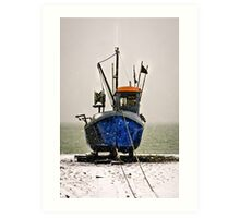 Snow fishing Art Print