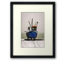 Snow fishing Framed Print