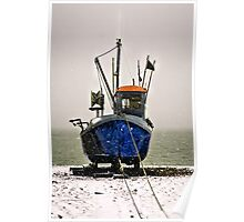 Snow fishing Poster