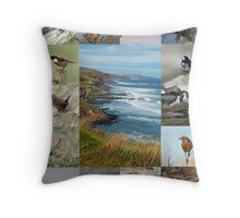 Birds of the Berwick Coast Throw Pillow