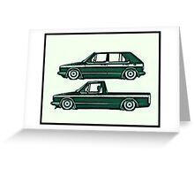 VW Golf & Caddy Greeting Card