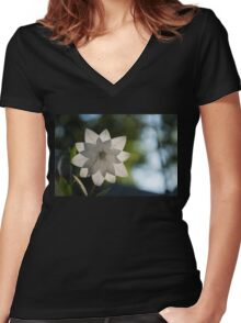 A Star in My Garden Women's Fitted V-Neck T-Shirt