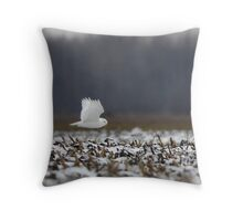 Ghost - Snowy Owl Throw Pillow