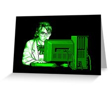 Computer Science (Green) Greeting Card