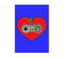 SNES Love Art Print