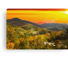 Mountain Life at Sundown Canvas Print