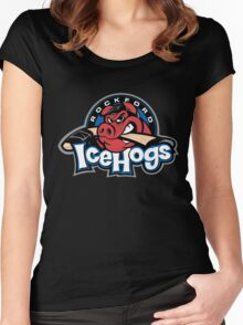 Rockford Ice Hogs Women's Fitted Scoop T-Shirt