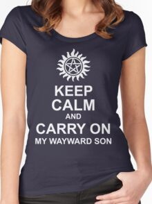 Keep Calm and Carry On My Wayward Son Shirt Women's Fitted Scoop T-Shirt